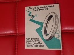Plaquette Publicite Pneus Gergovia Voiture Automobile Accessoires  Clermont-Ferrand 30 - Pubblicitari