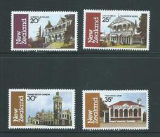 New Zealand 1982 Architecture Set Of 4 MNH - Nueva Zelanda