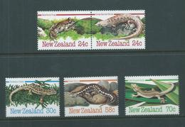 New Zealand 1984 Reptile & Amphibians Set Of 5  MNH - Nueva Zelanda