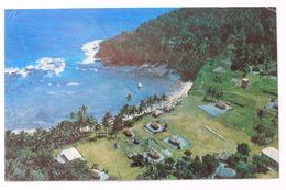 Village On Apolima Island, Western Samoa, Postcard (creased) With 10 Sene Stamp Triton Shell I Sisifo - Samoa