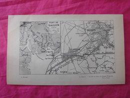Vietnam: Deux Plans De 1923 Par Sarraut Dont Saigon Et Haiphong - Documents Historiques