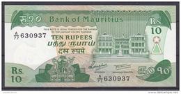 MAURICE      BILLET    10RS   1985 TTB NEUF - Mauritius