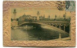 CPA  75 : PARIS Pont Alexandre III Pour Famille Demode à Reims Rue Brulée     VOIR DESCRIPTIF  §§§ - France