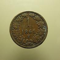 Austria 1 Kreuzer 1861 E - Oesterreich