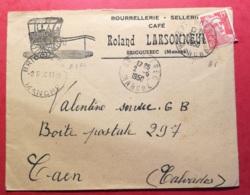Manche-Enveloppe Bourrellerie Sellerie Café Bricquebec - Postmark Collection (Covers)