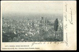 Granada Vista General Desde San Nicolas Granadina 1904 Pionnière - Granada