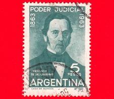 ARGENTINA - Usato -  1963 - Centenario Della Magistratura Argentina - Francisco De Las Carreras - 5 - Argentina