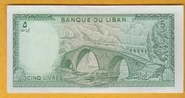 Liban - Billet De 5 Livres - 1986 - P62d - Neuf - Lebanon
