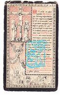 DP Maria Josepha J. De Baecker / Coevoet 28j. ° Poperinge 1874 † 1903 - Santini