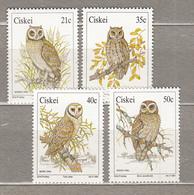 BIRDS South Africa Ciskei1991 Mi 183 - 186 MNH (**) #20969 - Hiboux & Chouettes