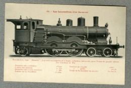 CPA Locomotive Type Atlantic Grande Vitesse Allemagne Chemin De Fer Bavarois - Treinen