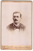 Photo Ch. Ogerau, Paris, Portrait De Herr Avec Zwicker - Anonymous Persons