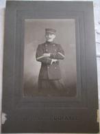 Grande Photographie ( 12,5 X 18,5 ) Cartonnée  Militaire Gradé De L'Infanterie De Marine - Photo Dufayel   BE - Guerra, Militari