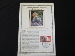 """BELG.1990 2360 : """"DAG VAN DE VROUWEN """" NL.Luxe Kunstblad Zijde , 200 Exemplaren Limiet - 1981-90"""