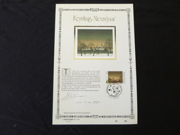 """BELG.1990 2392 : """" KERSTMIS/NIEUWJAAR """" NL.Luxe Kunstblad Zijde , 200 Exemplaren Limiet - FDC"""