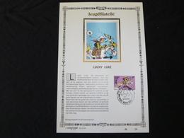 """BELG.1990 2390 : """" LUCKY LUKE """" NL.Luxe Kunstblad Zijde , 200 Exemplaren Limiet - 1981-90"""