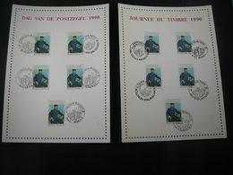 """BELG.1990 2365 FDC Filatelic Cards : """"  Dag Van De Postzegel / Journée Du Timbre 1990 """" - FDC"""