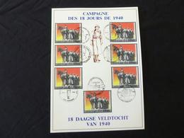 "BELG.1990 2369 FILATELIC CARD : "" 18 Daagse Veldtocht / Campagne Des 18 Jours "" - FDC"
