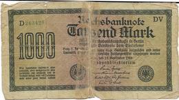 Billet De 1000 Marks Allemagne 15/09/1922 - [ 3] 1918-1933 : Weimar Republic