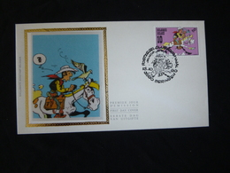 """BELG.1990 2390 FDC Zijde/soie : """" Lucky Luck """" - FDC"""