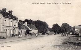 CPA - 45 - DORDIVES  - Route De Paris - La Rue Mangine - Dordives