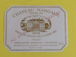 MARGAUX ETIQUETTE 1GC  CHATEAU MARGAUX 1979 - Bordeaux