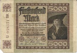 Billet De 5000 Marks Allemagne 02/12/1922 - 5000 Mark