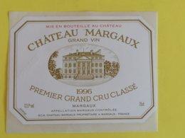 MARGAUX ETIQUETTE 1GC  CHATEAU MARGAUX 1996 - Bordeaux