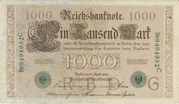 Billet De 1000 Marks Allemagne 21/04/1910 - 10000 Mark