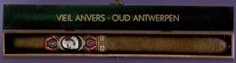Ancienne Boite Et  Cigare VIEIL ANVERS  Longueur 34CM  Et Boite 36 X 4 Cm (Belgique) - BELLE BAGUE. - Cigar Cases