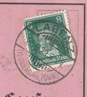 Deutsches Reich Karte Mit Tagesstempel Labenz 1929 Kr Lauenburg Pomm RB Köslin Pommern - Deutschland