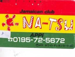 Telecarte Japan * JAMAICA Reliée (3) Telefonkarte JAMAICA Verbunden - Phonecard JAMAICA  Related - - Paysages