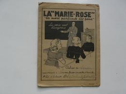 """VIEUX PAPIERS - PROTEGE CAHIER ET CAHIER DE CHANSONS : La """"MARIE-ROSE"""" - La Mort Parfumée Des Poux - Kinder"""