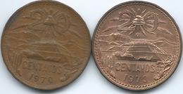 Mexico - 20 Centavos - 1970 Mo - KM440 & 1973 Mo - KM441 - Mexico