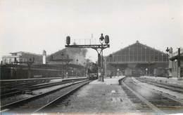 GARE DE LYON (Paris), Photo Format Carte Ancienne .(en 1947) - Gares - Avec Trains