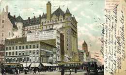 Broad And Market Street Newark N.J. Trams  Fidelity Trust Company Colorisée RV Beau Timbre - Estados Unidos