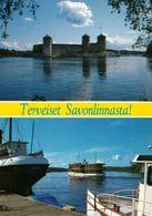 2 AK Finnland * Die Burg Olavinlinna - Erbaut Ab 1475 Auf Der Felseninsel Kyrönsaari * - Finlande