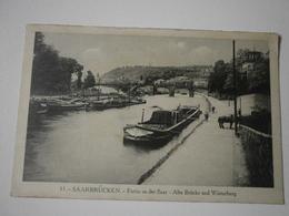 Saarbrücken, Partie An Der Saar. Alte Brücke Und Winterberg (A9p23) - Saarbrücken