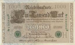 Billet De 1000 Marks ALLEMAGNE 21/04/1910 - [ 2] 1871-1918 : German Empire