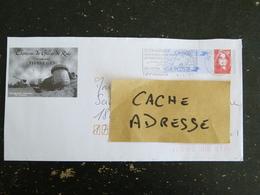 TIFFAUGES - VENDEE - FLAMME CHATEAU DE GILLES DE RAIS SUR PAP MARIANNE LUQUET - CONCORDANCE - Marcophilie (Lettres)