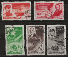Russie 1935 N° Y&T : PA. 49 à 53 Obl. - Used Stamps