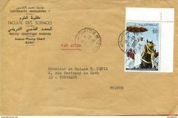 """Maroc;1969 ;enveloppe Rabat Pour Bordeaux """" à Cheval  """" Morocco,Marruecos - Lettres & Documents"""