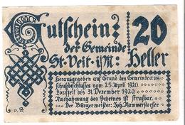 Österreich Austria Notgeld 20 HELLER FS944 ST. VEIT /176M/ - Autriche