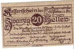 Österreich Austria Notgeld 20 HELLER FS ST.PETER /176M/ - Autriche