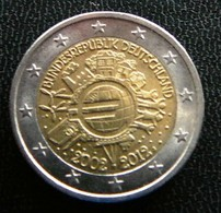 Germany - Allemagne - Duitsland   2 EURO 2012 J   10 Years Euro      Speciale Uitgave - Commemorative - Germany