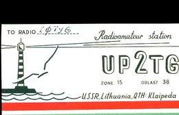 RC716  QSL UP2TG KLAIPEDA LITHUANIA OP. H. DULKE - QSL Cards