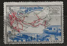 Russie 1949 N° Y&T : PA. 97( Dent Courte, Petite Déchirure) Obl. - 1923-1991 UdSSR
