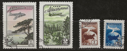Russie 1955 N° Y&T : PA. 98 à 101 Obl. - 1923-1991 UdSSR