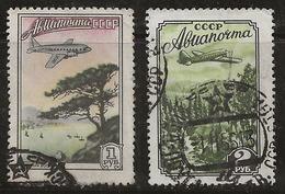 Russie 1955 N° Y&T : PA. 98 Et 99 Obl. - 1923-1991 UdSSR