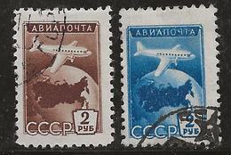 Russie 1955 N° Y&T : PA. 100 Et 101 Obl. - 1923-1991 UdSSR